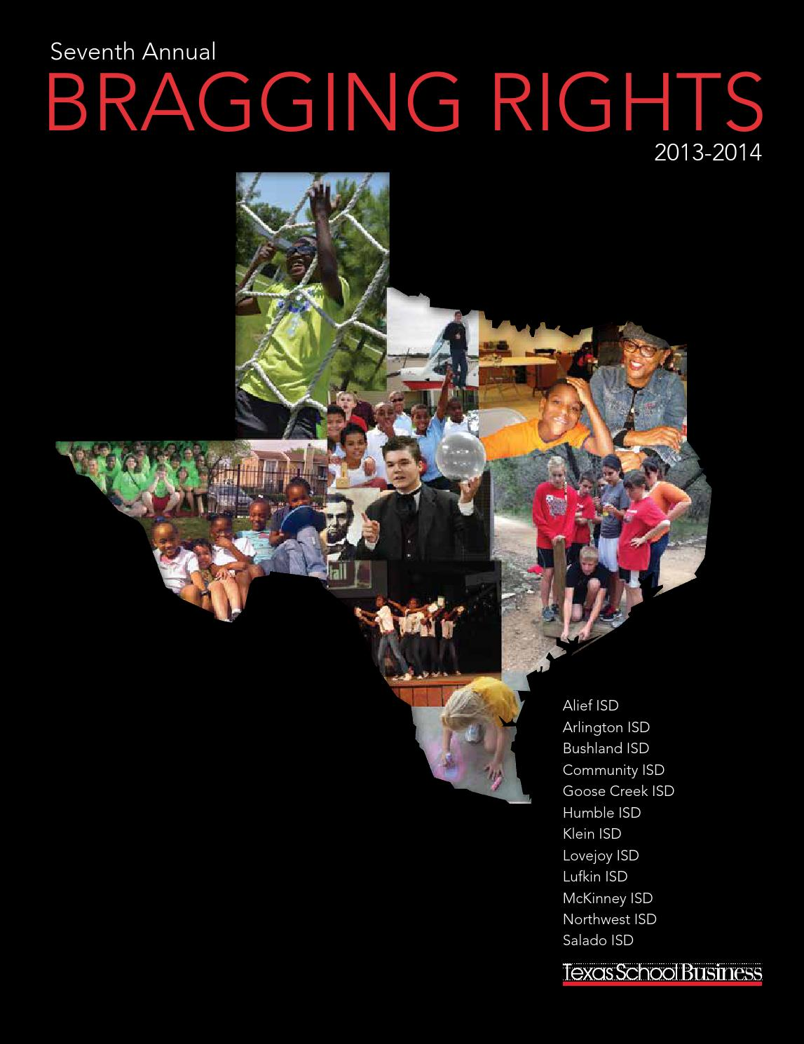 Seventh Annual Bragging Rights 2013 2014 By Texas Association Of School Administrators Issuu