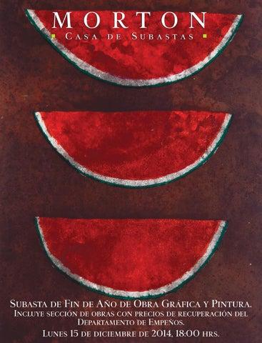 Subasta de Fin de Año de Obra Gráfica y Pintura. by Morton Subastas ... cdfb0d965c1