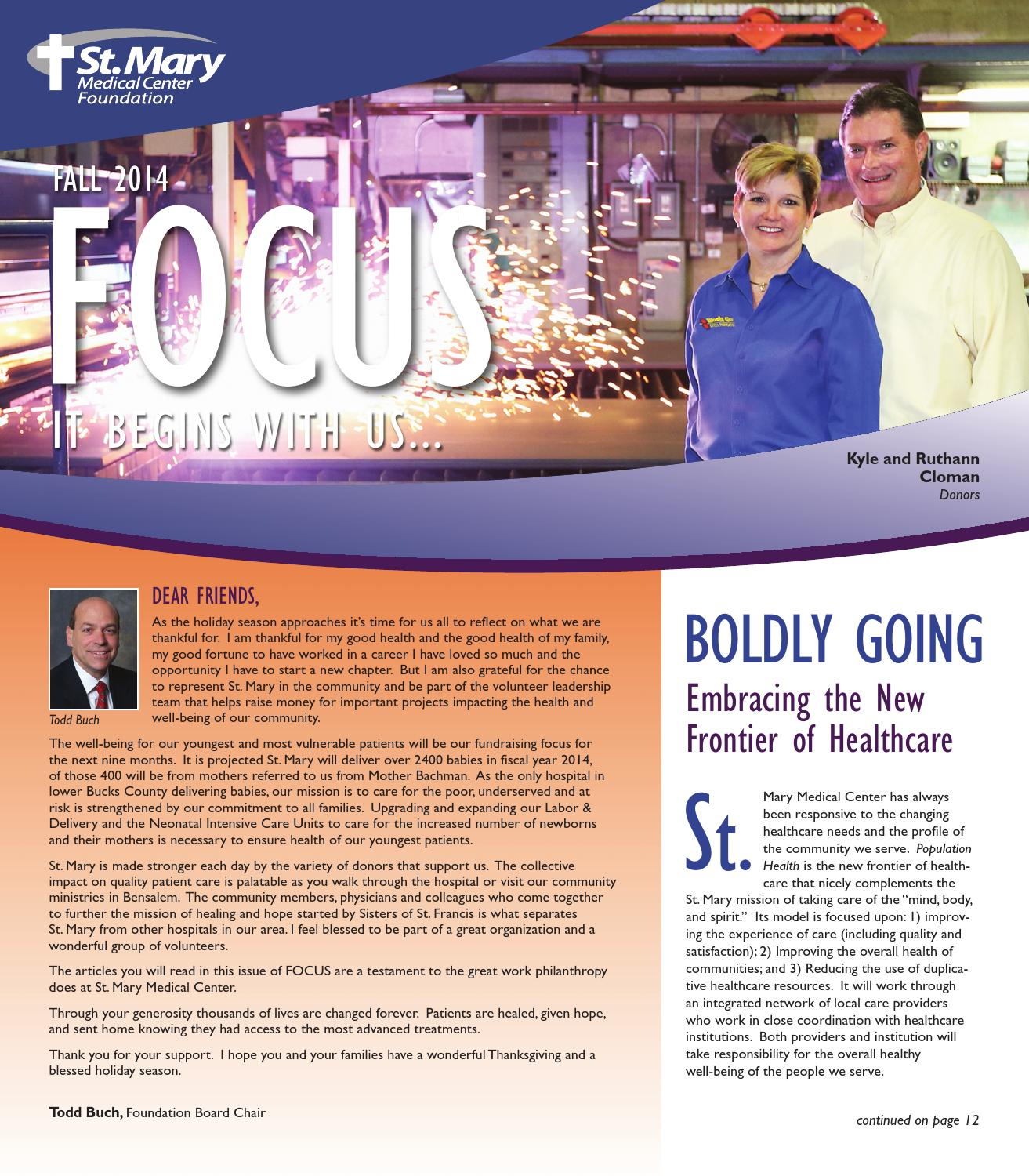 St  Mary Foundation FOCUS Fall 2014 by accent communications, inc
