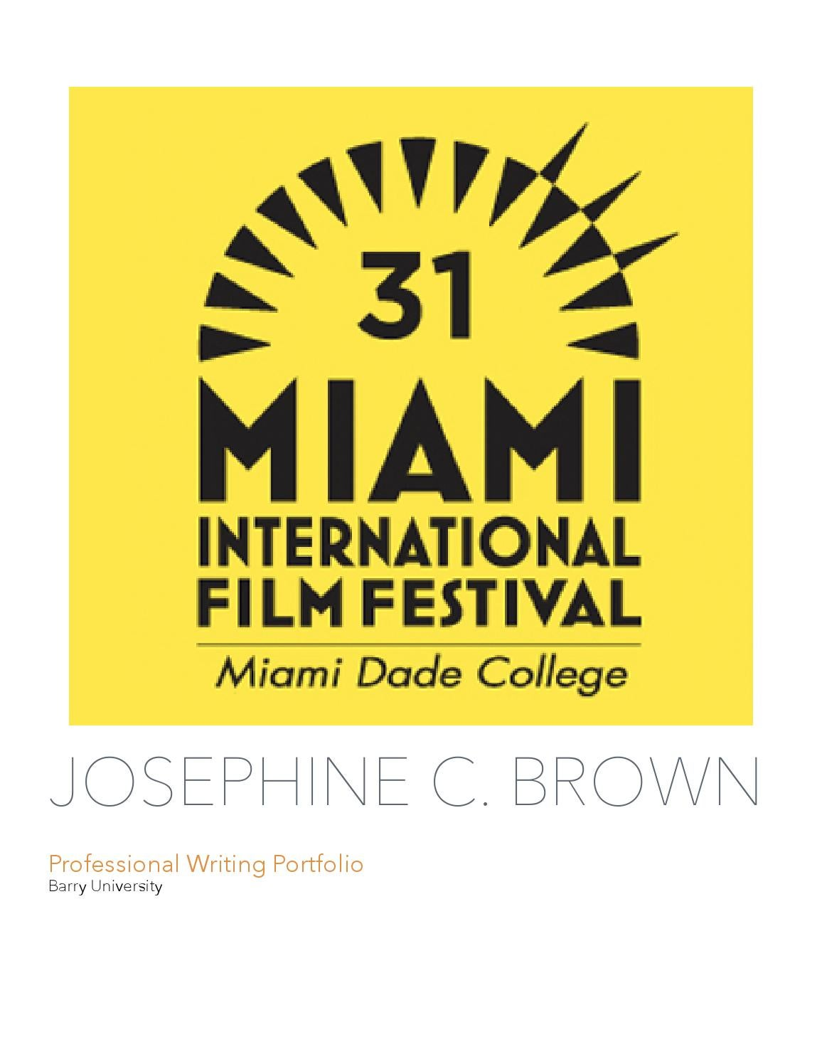 Josephine Brown's Professional Writing Portfolio by Josie