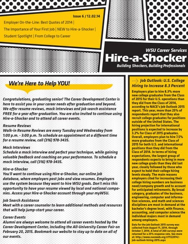 December 2 2014 Hire A Shocker Newsletter By Career Services Issuu