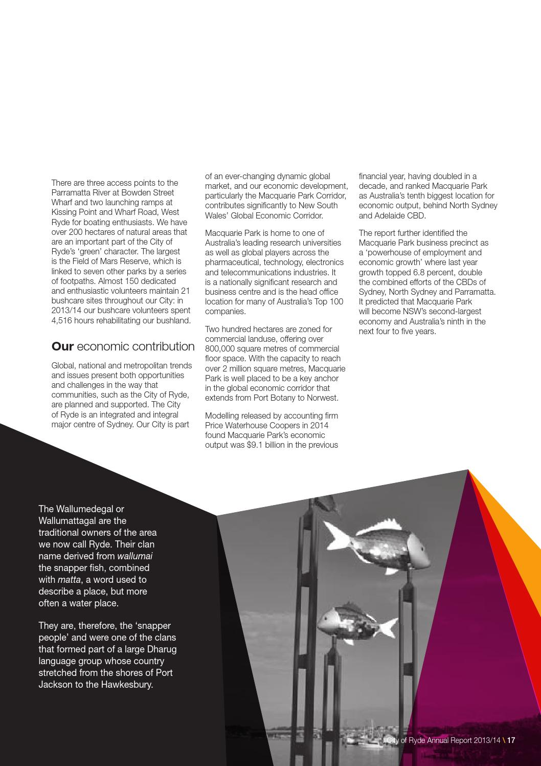 City of Ryde Annual Report 2013/14 by City of Ryde - issuu