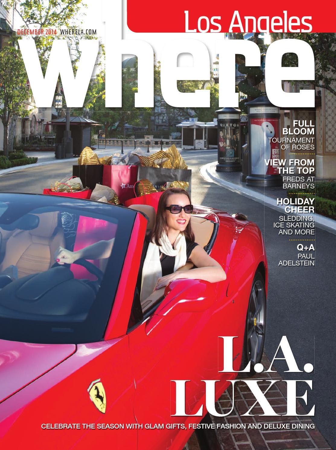 3ee241100c0cd Where Los Angeles Magazine December 2014 by SoCalMedia - issuu