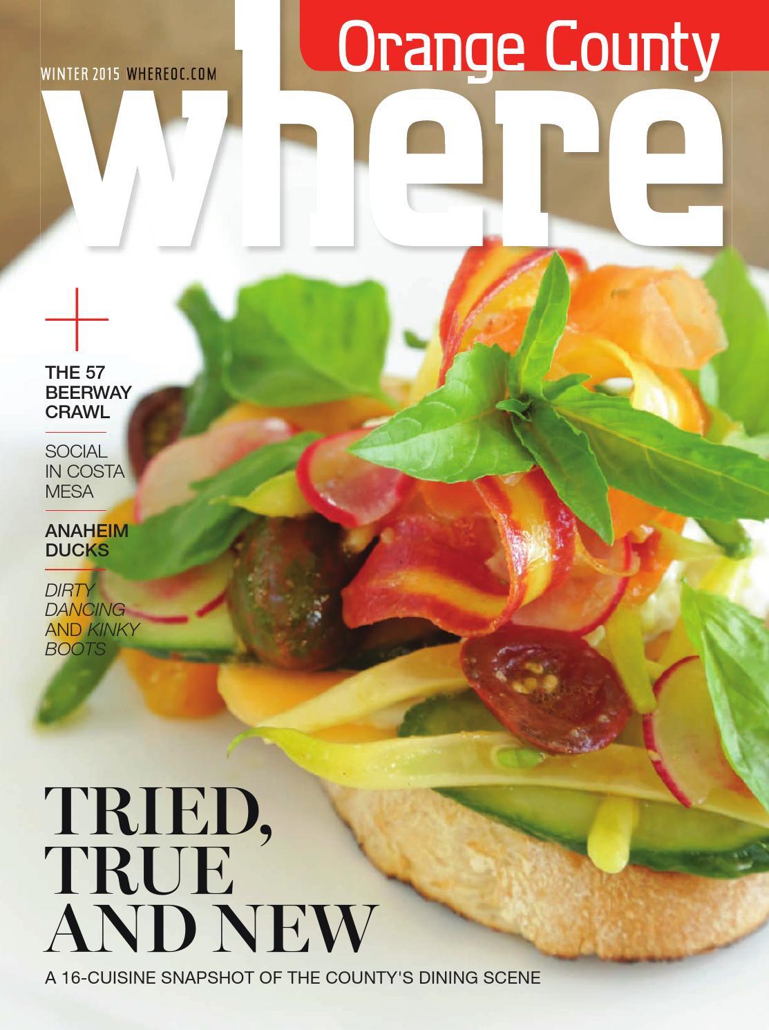 Where Orange County Magazine Winter 2015 by SoCalMedia - issuu