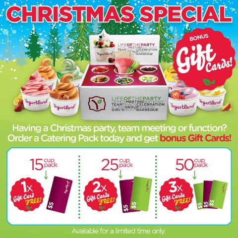 Yogurtland Marketown Catering Pack Special by Marketown Shopping ...