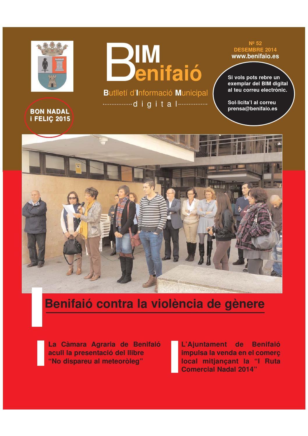 Bim benifai desembre 2014 by gabinet premsa i comunicaci for Piscina benifaio