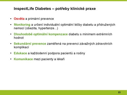 diabetes kompenzace