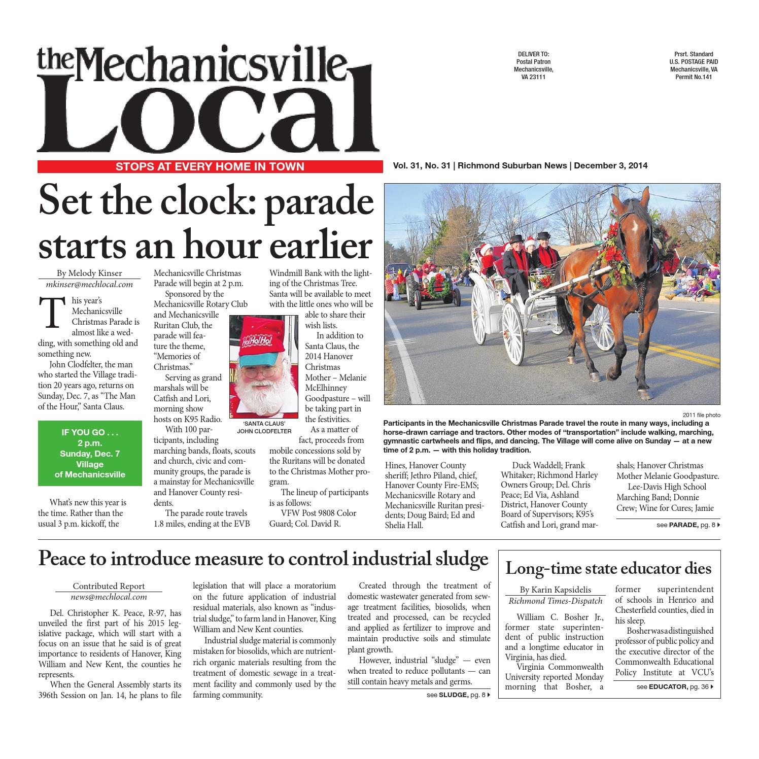 12/03/2014 by The Mechanicsville Local - issuu