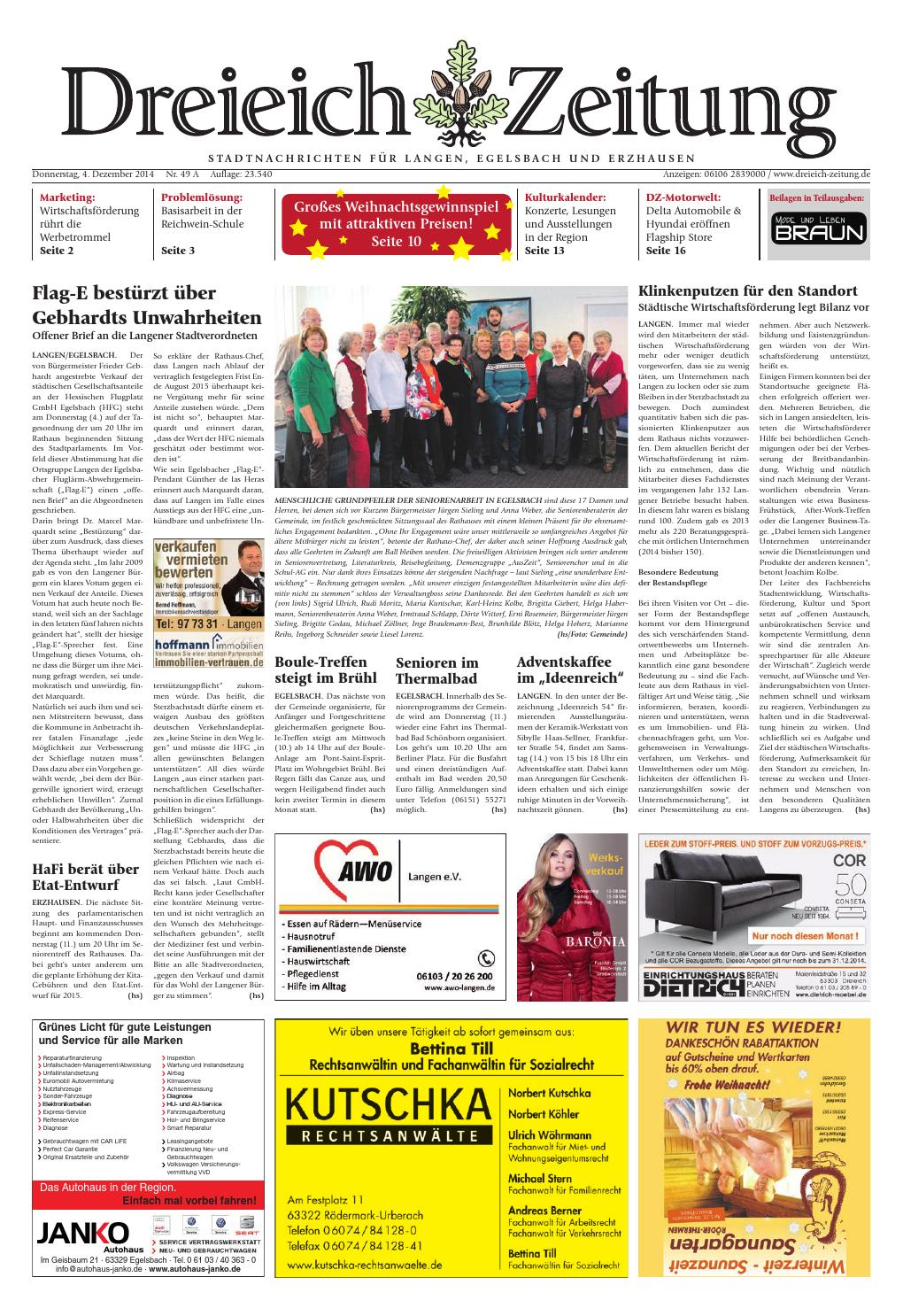 Dz Online 049 14 A By Dreieich Zeitung Offenbach Journal