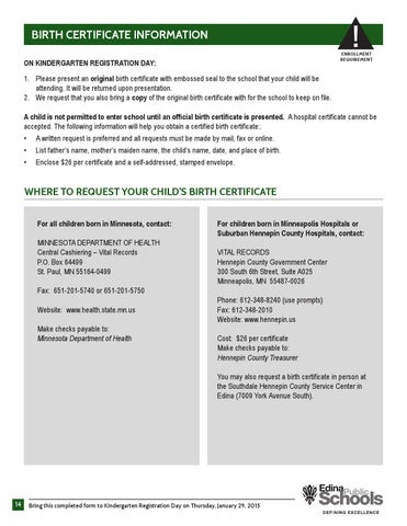 Kindergarten Enrollment Packet 2015-16 by Edina Public Schools - issuu