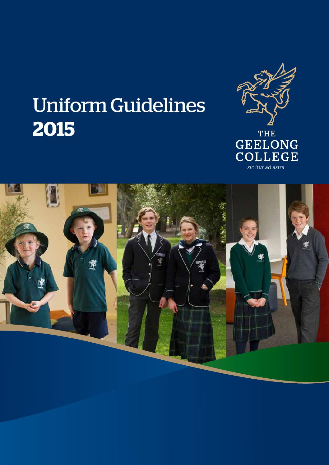 Uniform Guidelines 2015 By Geelong College Issuu