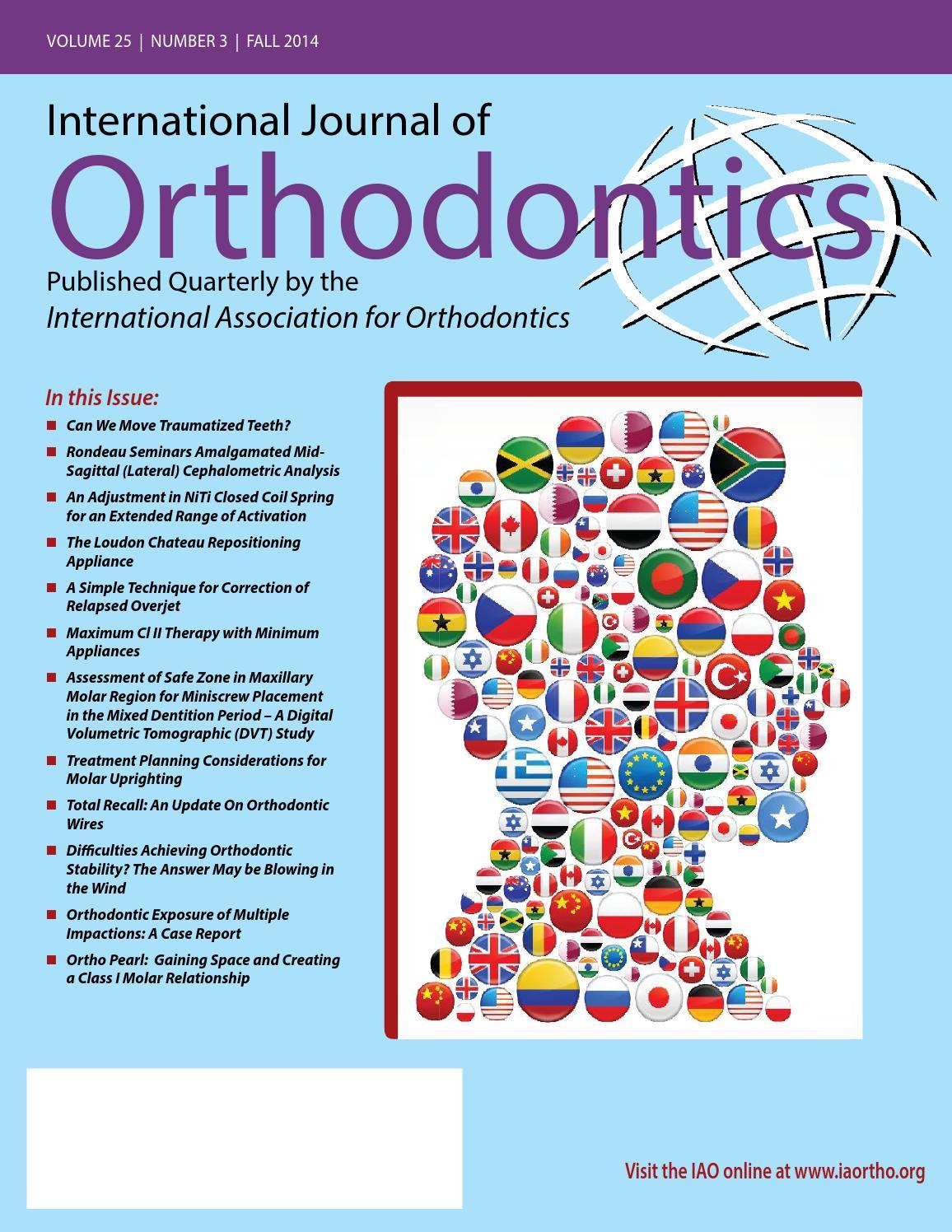 International Journal Of Orthodontics By Grant Hubbard Issuu