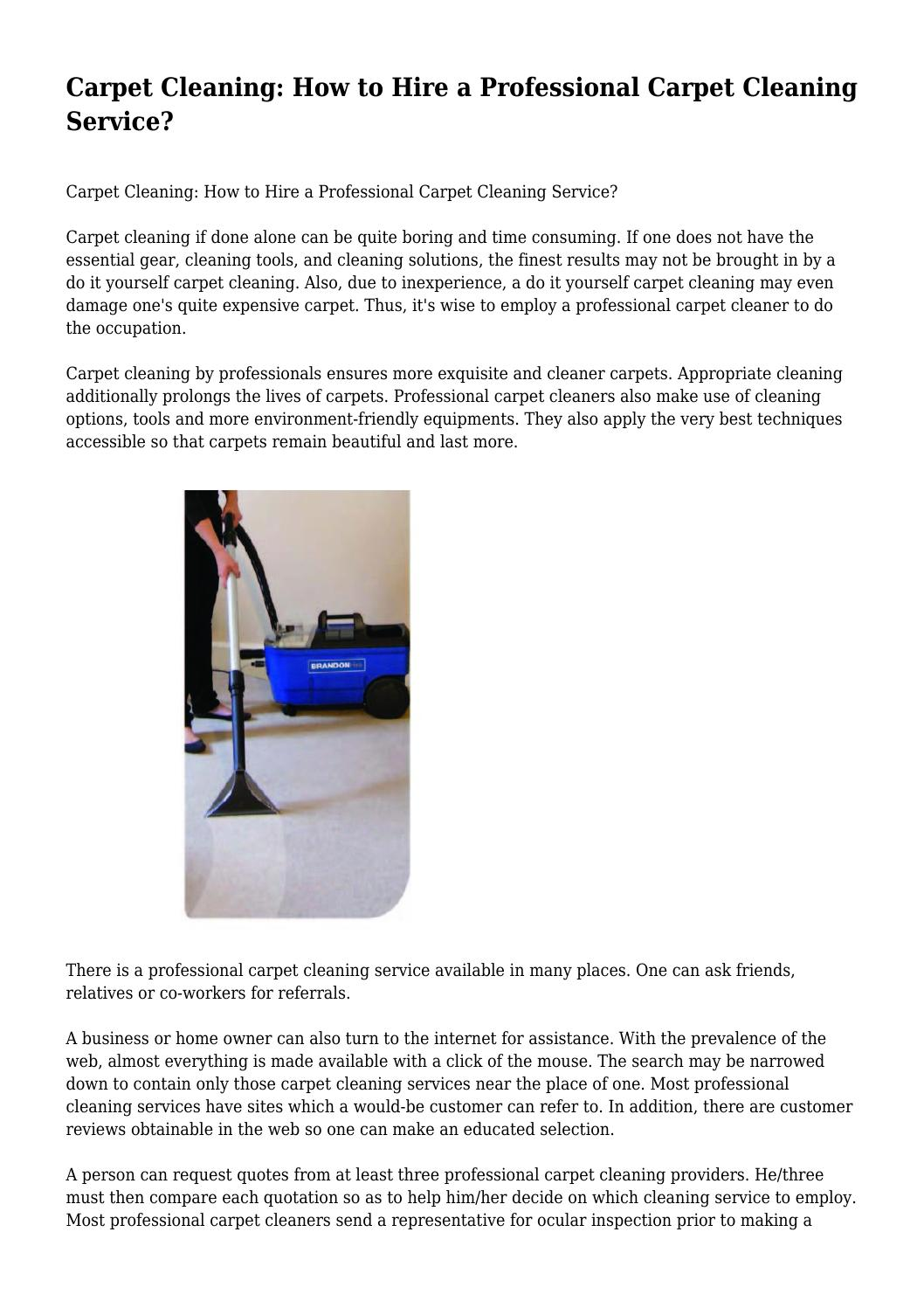 Carpet cleaning how to hire a professional carpet cleaning service carpet cleaning how to hire a professional carpet cleaning service by incandescentodo91 issuu solutioingenieria Images