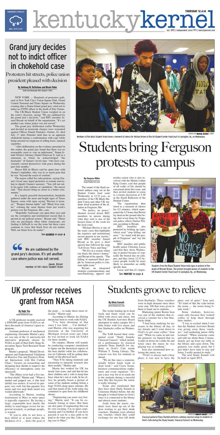 Kernel In Print — December 4, 2014 by Kentucky Kernel - issuu