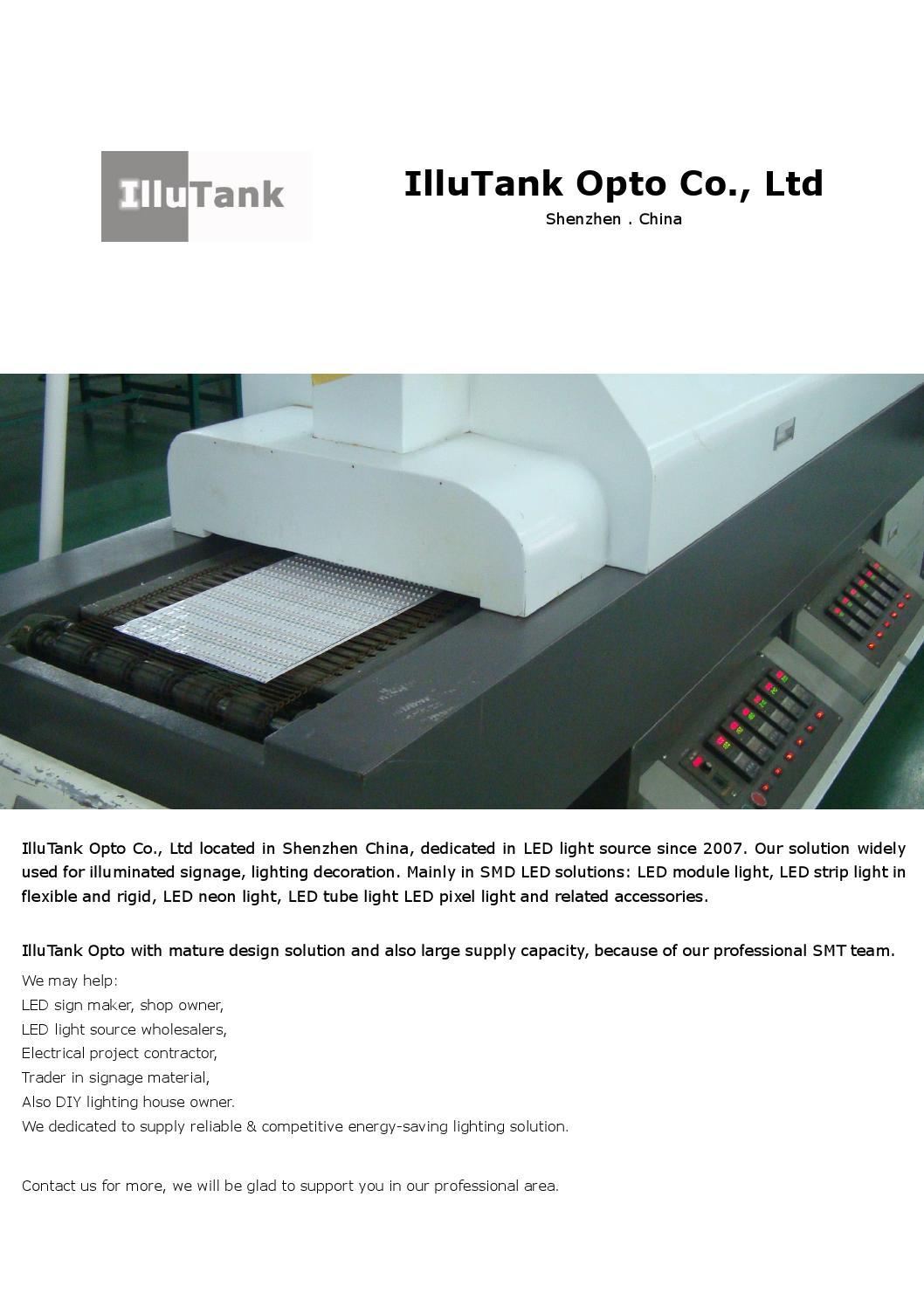 Illutank Opto Brochure Led Light Solution By Illutank Opto