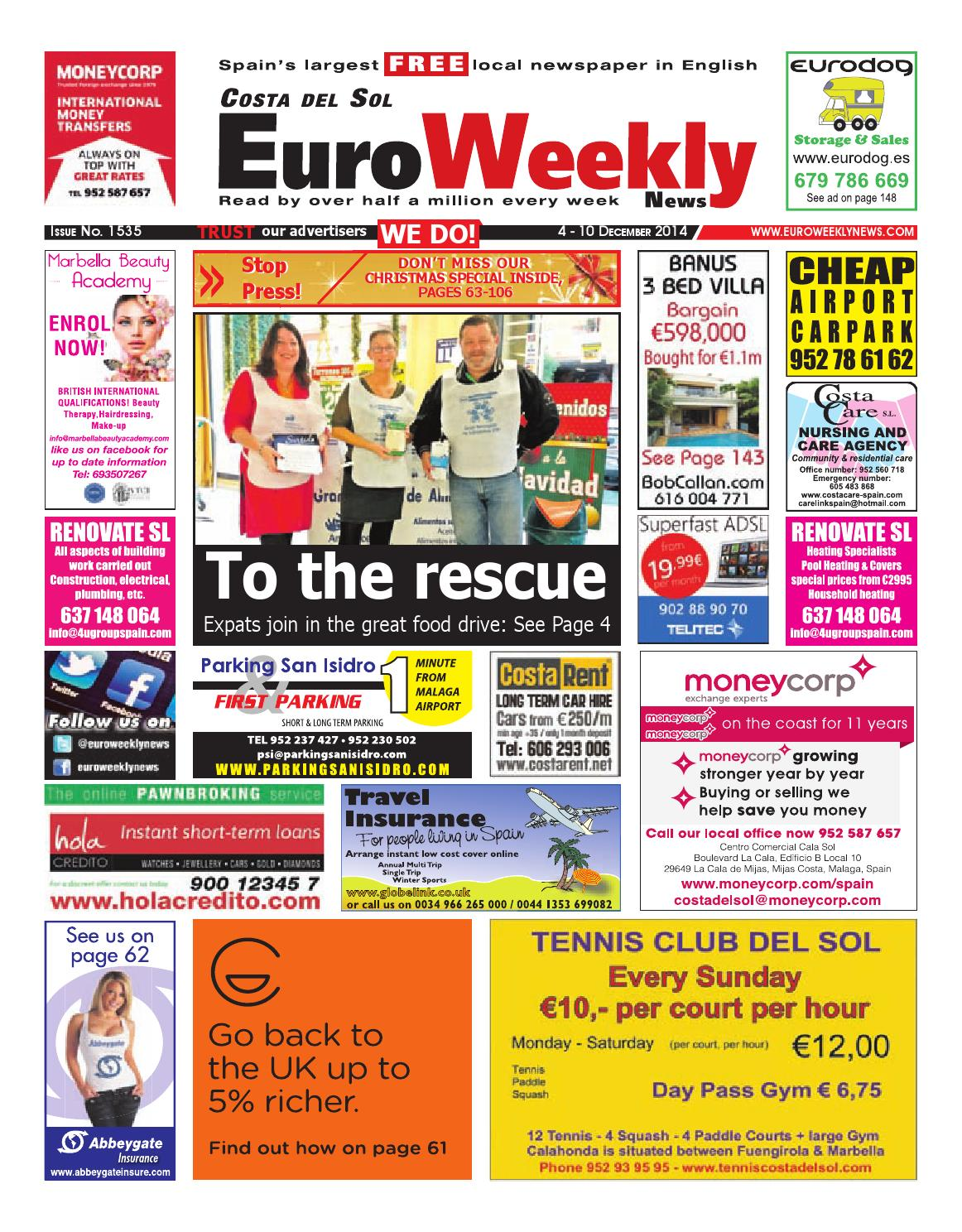 Euro Weekly News - Costa del Sol 4 - 10 December 2014 Issue 1535 by Euro  Weekly News Media S.A. - issuu