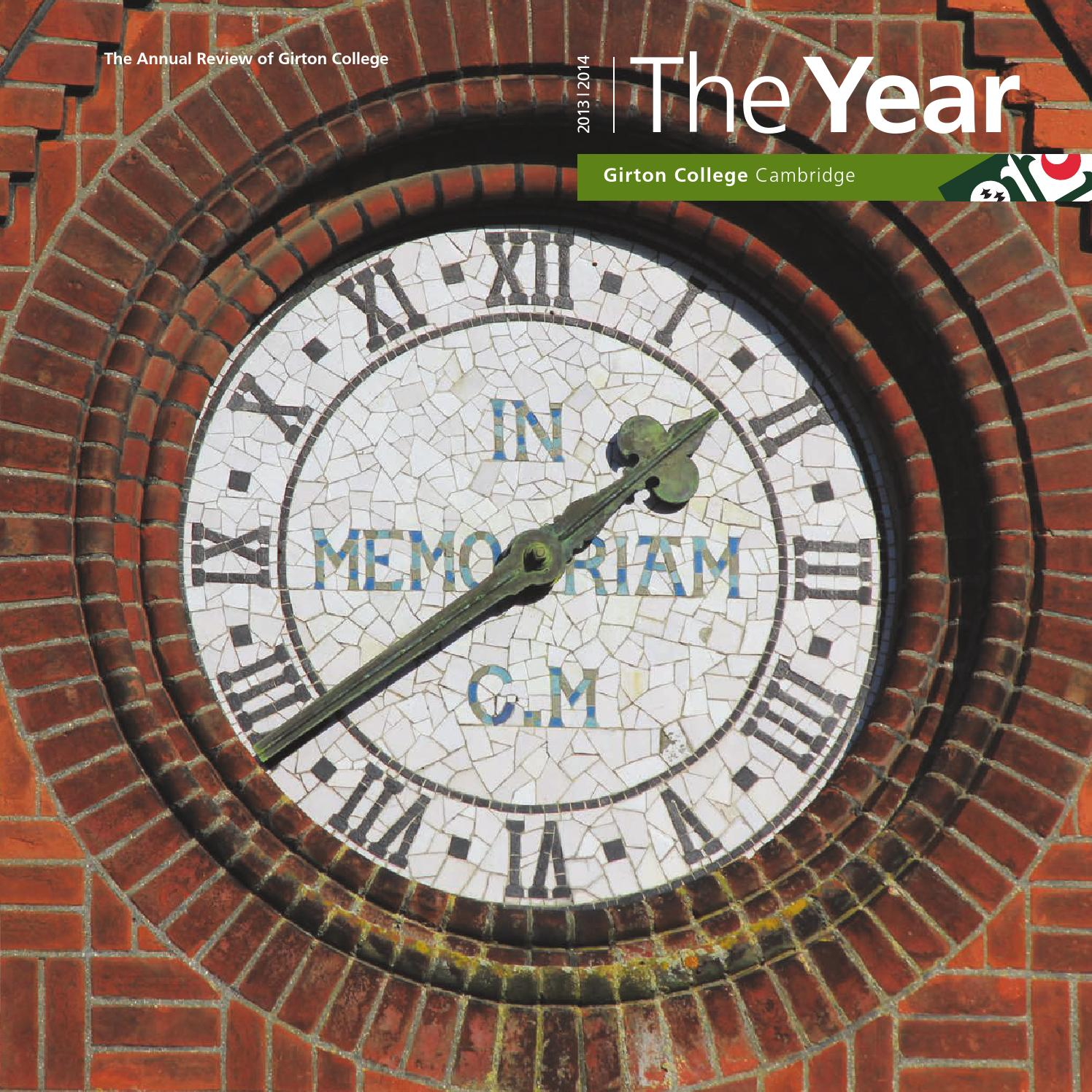 The Year 2014 by Girton College - issuu 11661b735a7