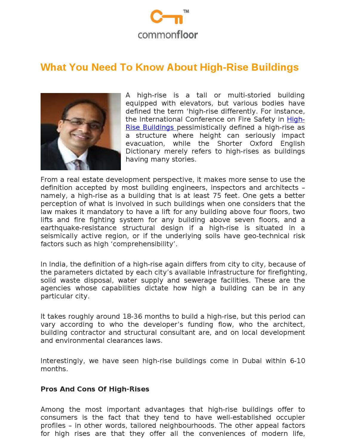 What you need to know about high rise buildings by