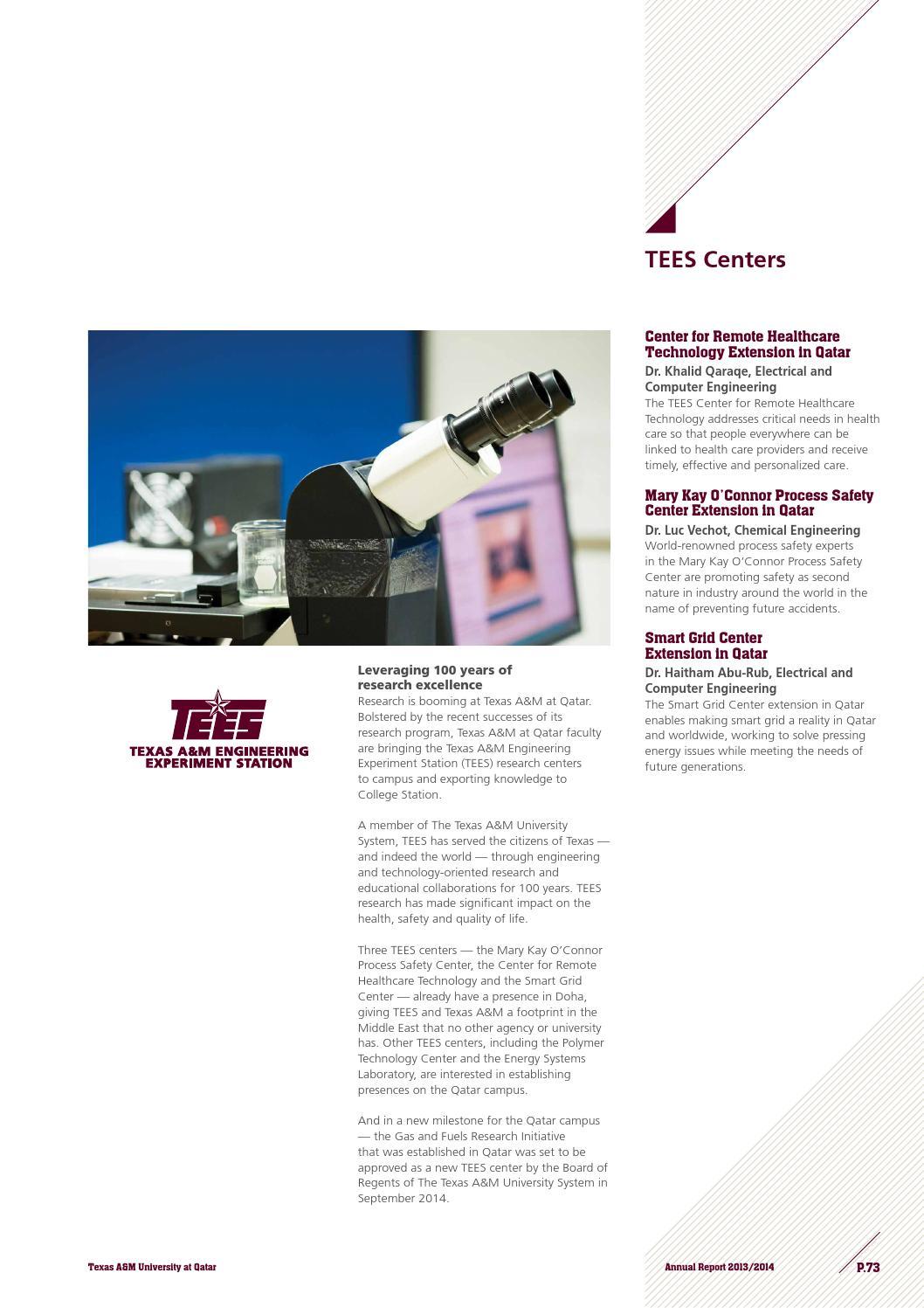 Annual report, fall 2014 by Texas A&M at Qatar - issuu