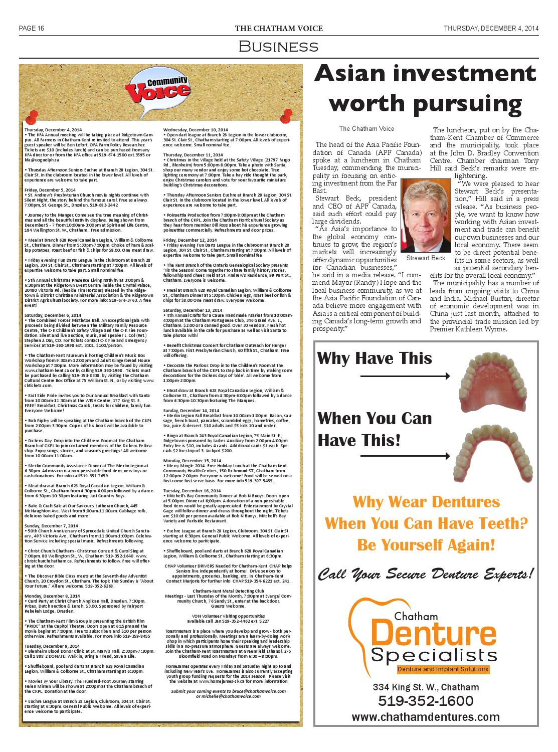 The Chatham Voice, Dec. 4, 2014 by Chatham Voice - issuu