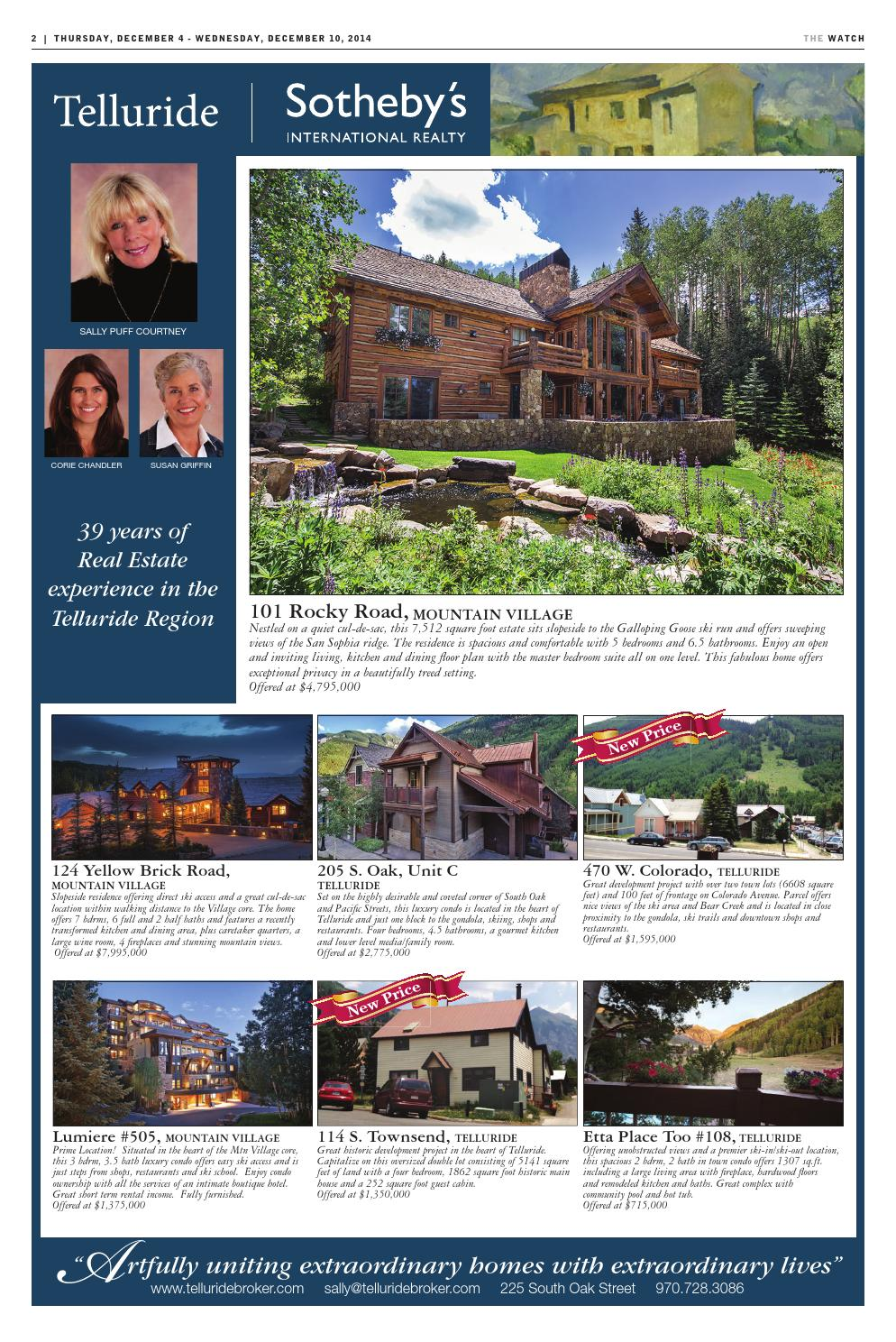 The Watch: Dec  4, 2014 by Telluride Daily Planet - issuu