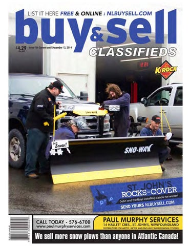 Current Until December 12 2014 Issue 914 CopyrightC The Newfoundland Buy Sell Magazine Inc