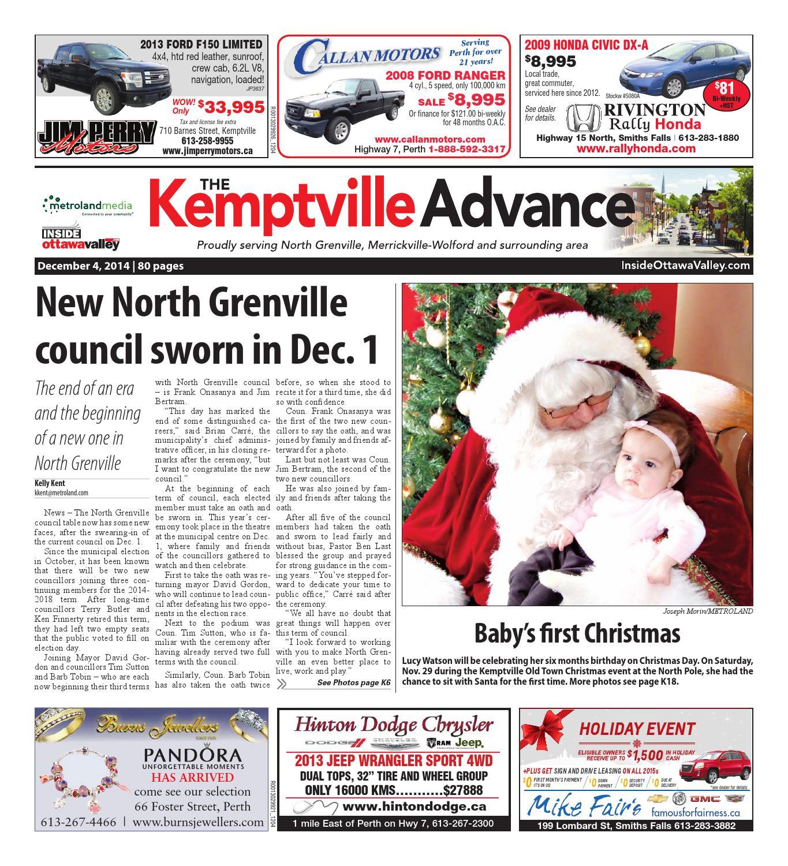 Kemptville120414 by Metroland East - Kemptville Advance - issuu