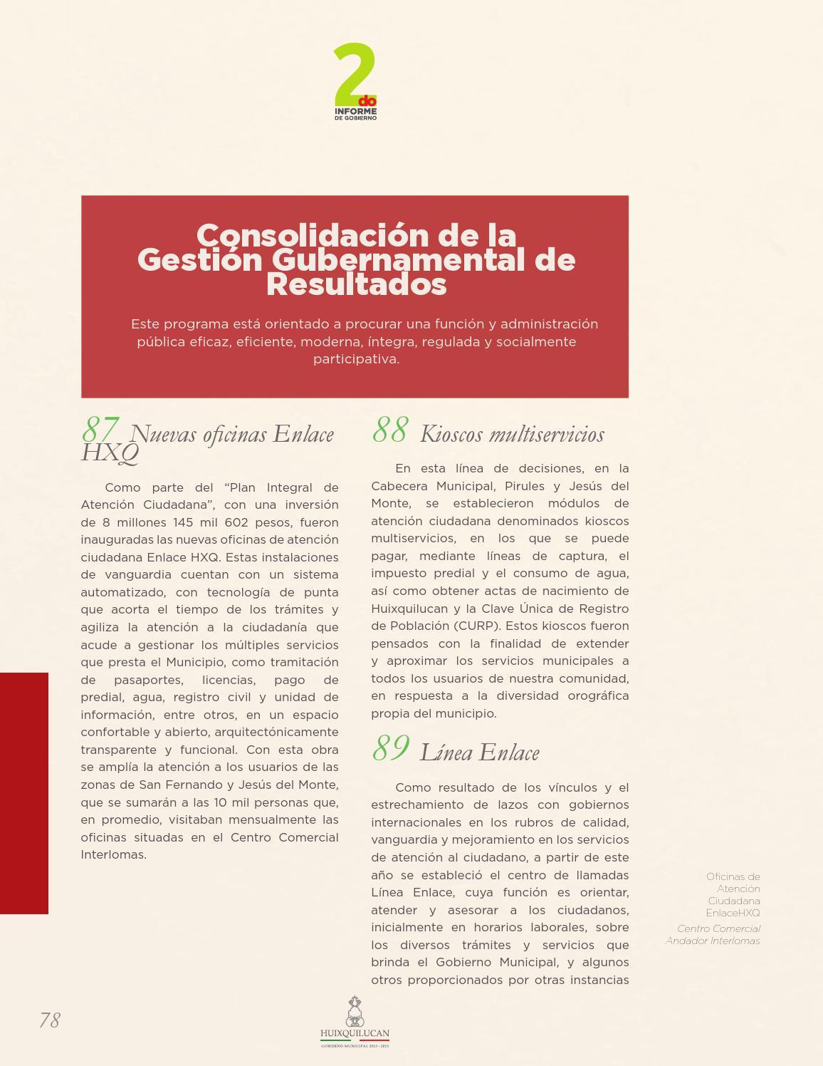 Segundo Informe De Gobierno Hxq By Hxq Huixquilucan Issuu