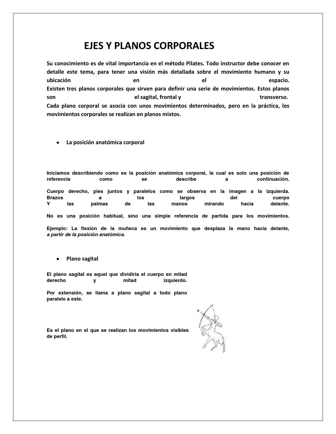 Ejes y planos corporales by yazuryflores - issuu