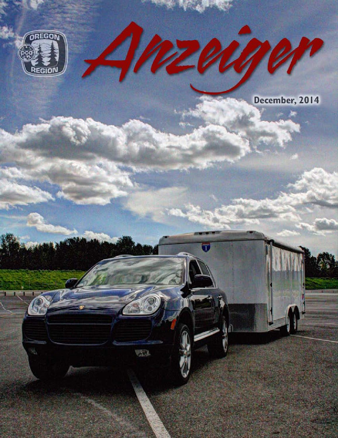 December 2014 Anzeiger By Oregon Region Porsche Club Of