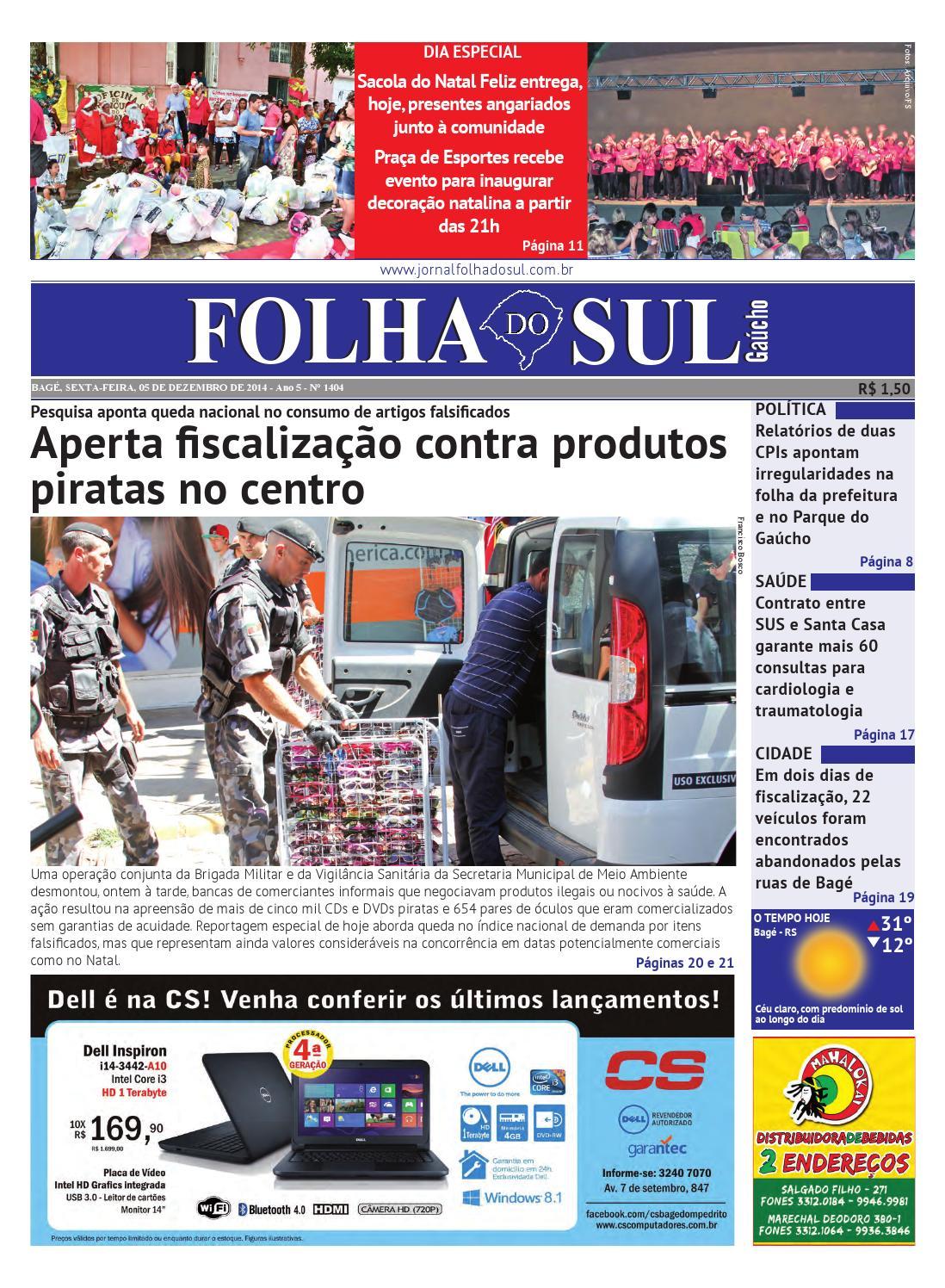 Folha do Sul Gaúcho Ed. 1404 (05 12 2014) by Folha do Sul Gaúcho - issuu 45a6d7ba74
