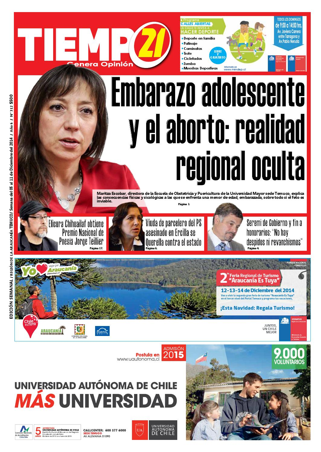 Edici N 312 Embarazo Adolescente Y Aborto Realidad Regional  # Muebles Mehuin Rancagua