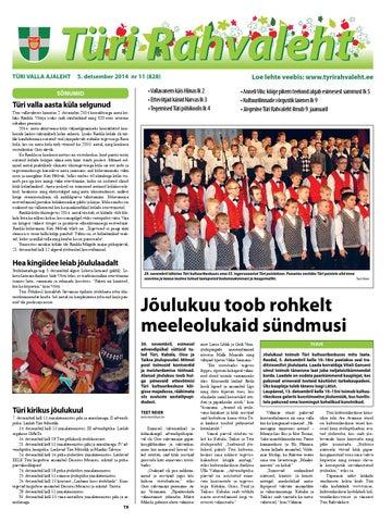 5a1e5e3362e 05.12.2014 - Türi Rahvaleht by Tyri Development Agency - issuu
