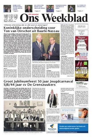 cbe81d0982bf73 Ons Weekblad 05-12-2014 by Uitgeverij Em de Jong - issuu