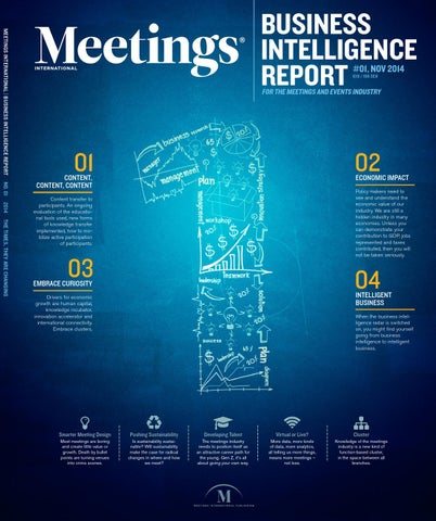 MEETINGS INTERNATIONAL | BUSINESS INTELLIGENCE REPORT No. 01 2014 The  Times, They Are Changing
