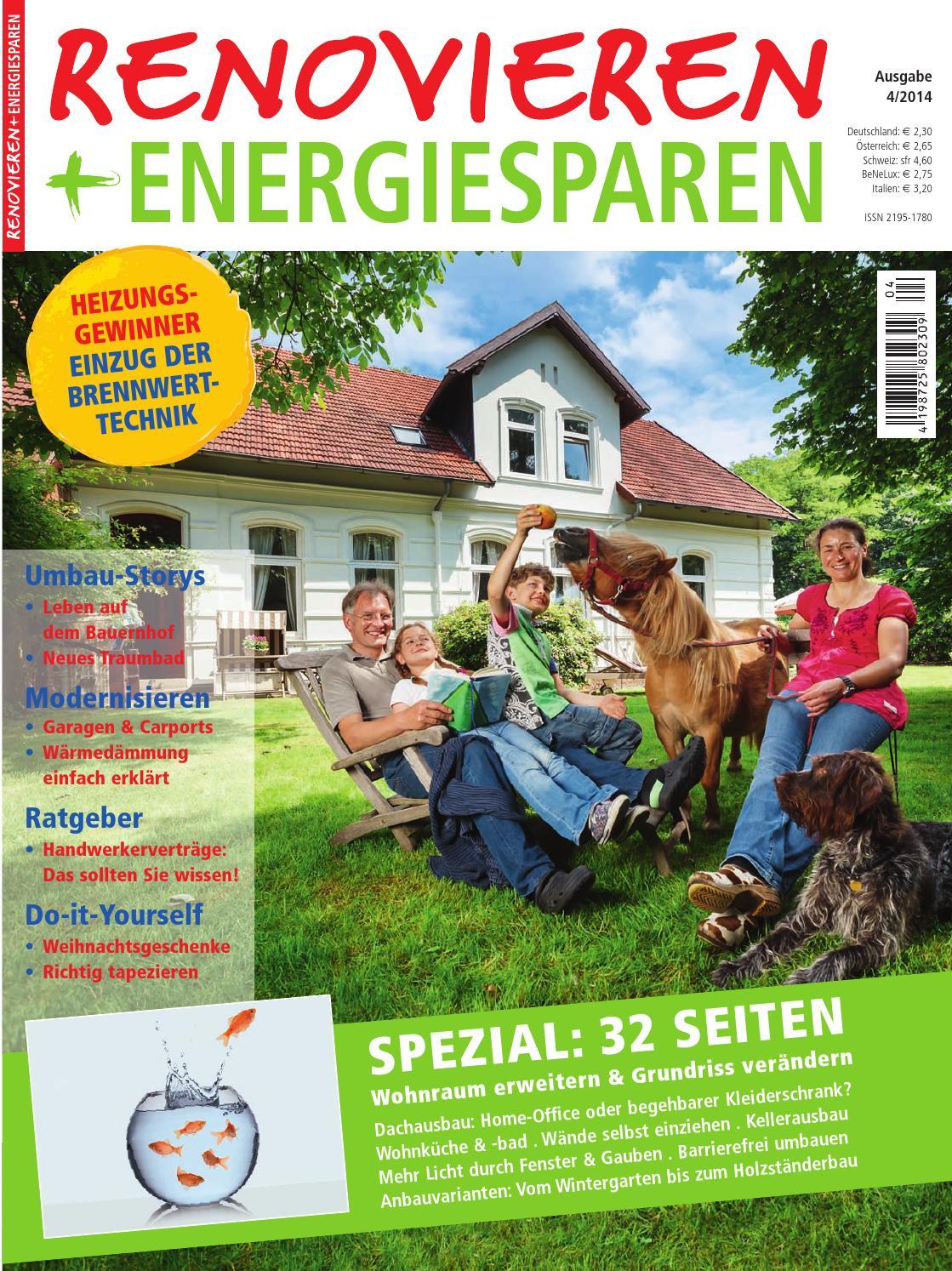 Renovieren U0026 Energiesparen 4/2014 By Family Home Verlag GmbH   Issuu