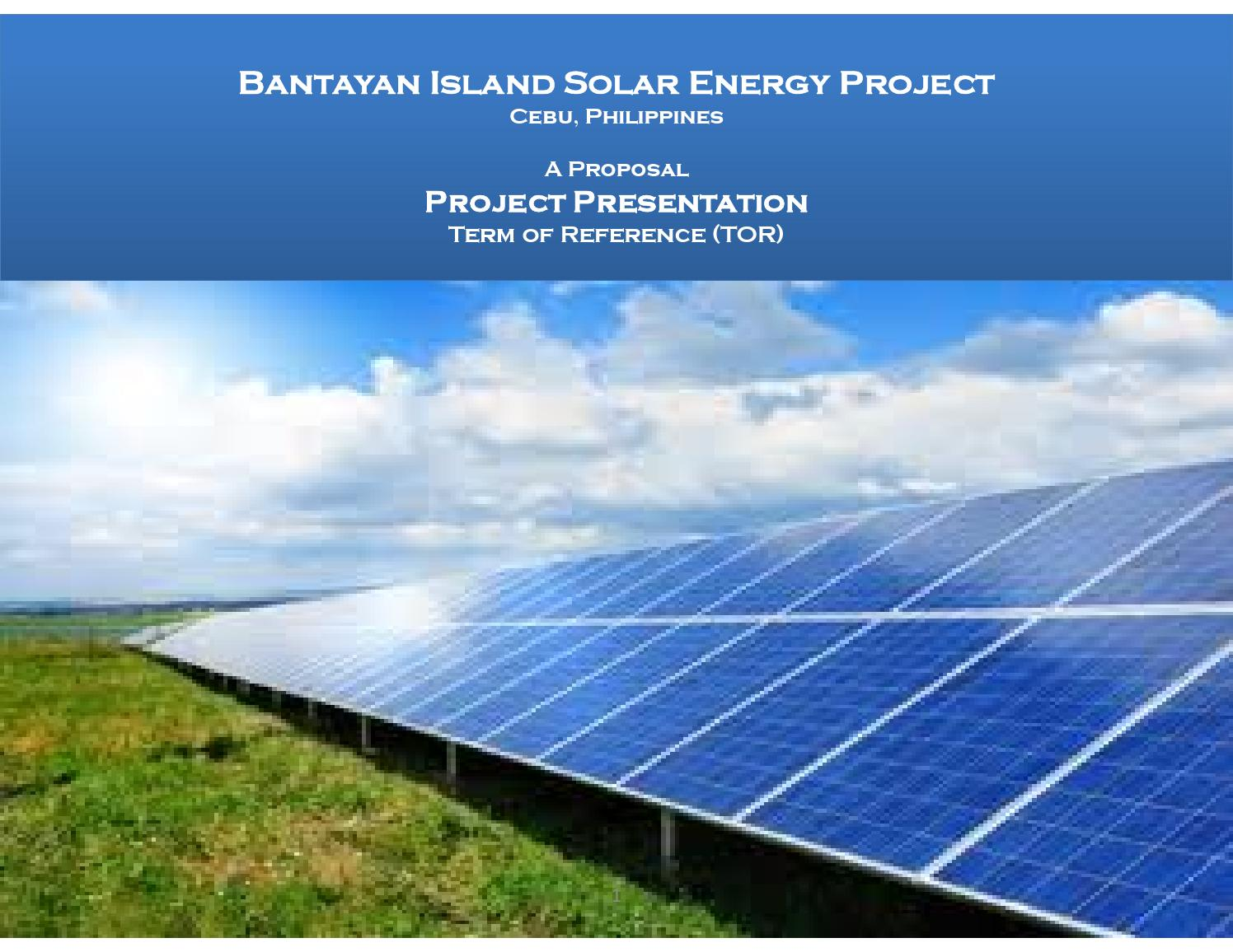 Bantayan Island 5mw Solar Energy Project By Council For
