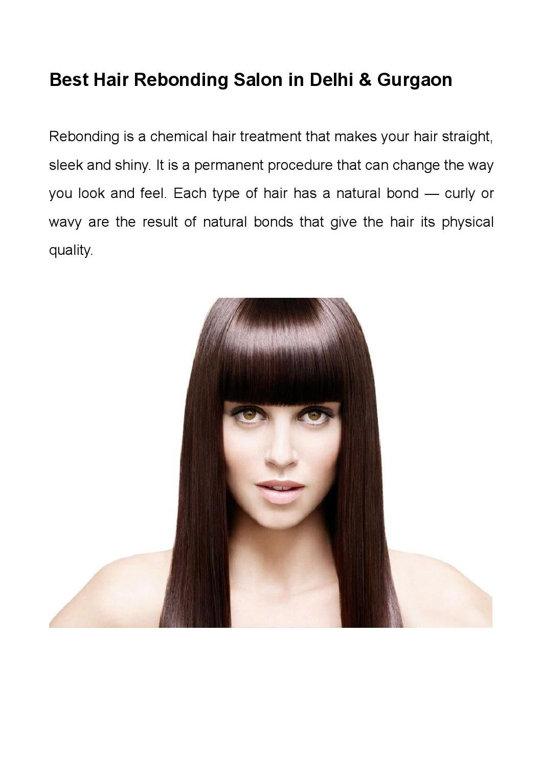 Best Hair Rebonding Salon In Delhi Gurgaon By Monsoon Salon Spa Issuu