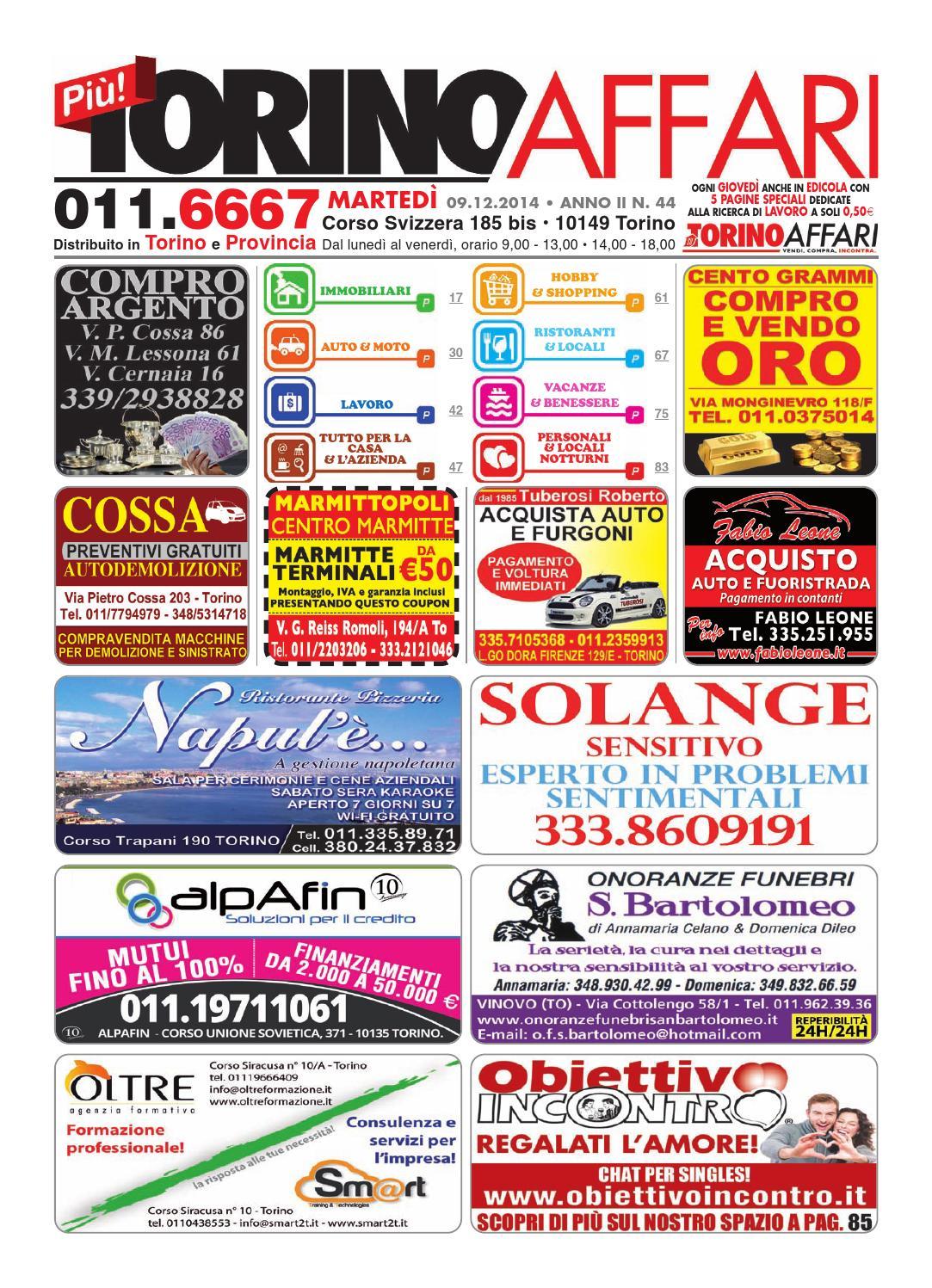 Più Torino Affari, ed fee 44 del 09 12 2014 by Torino Affari