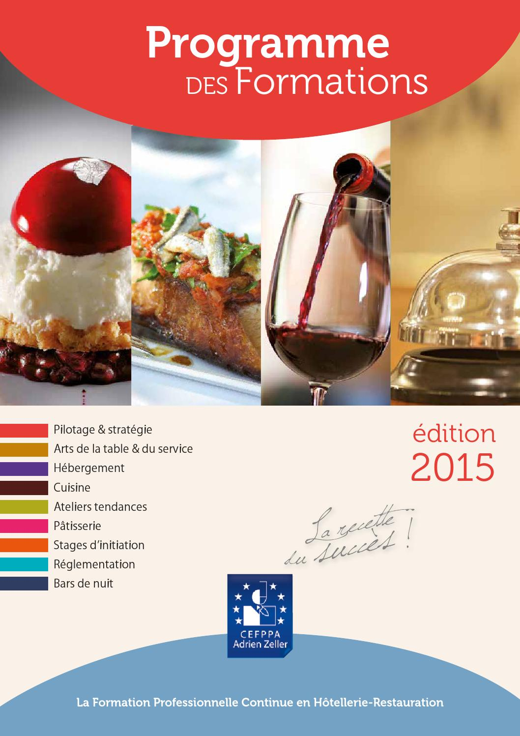 Catalogue fpc 2015 by cefppa issuu for Reglementation cuisine professionnelle