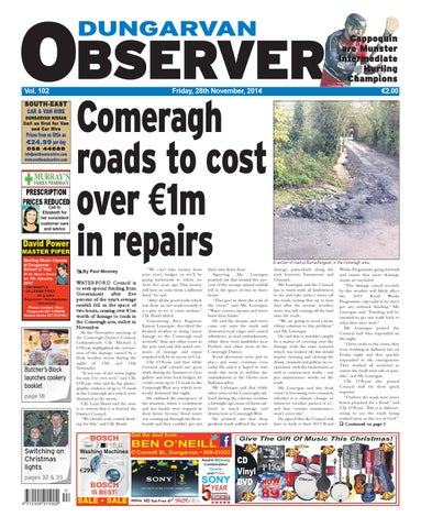 237f563672d Dungarvan observer 28 11 2014 edition by Dungarvan Observer - issuu