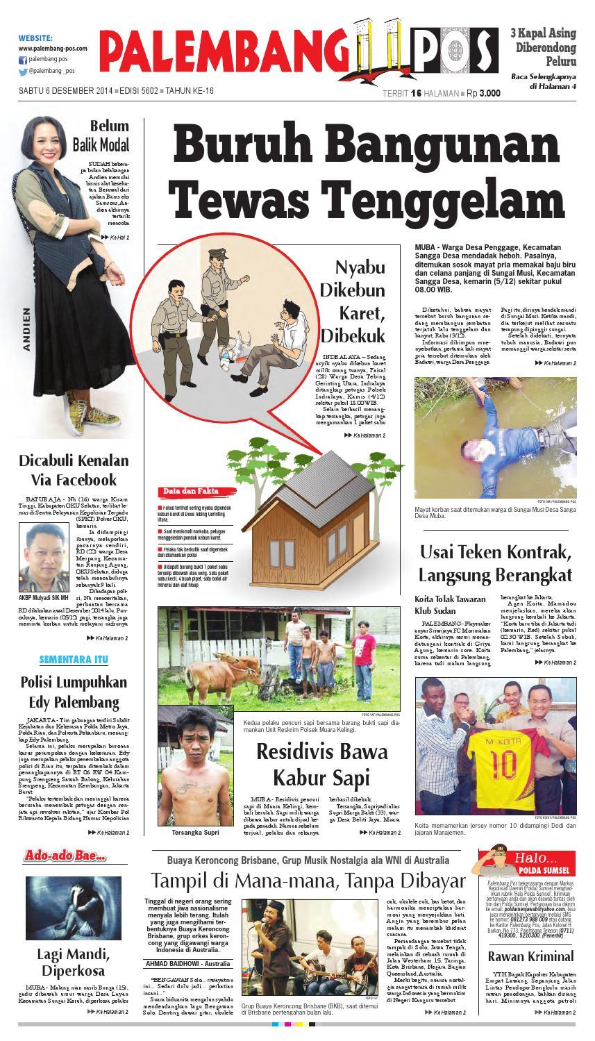 Palembang Pos Edisi Sabtu 5 Desember 2014 By Palembang Pos Issuu
