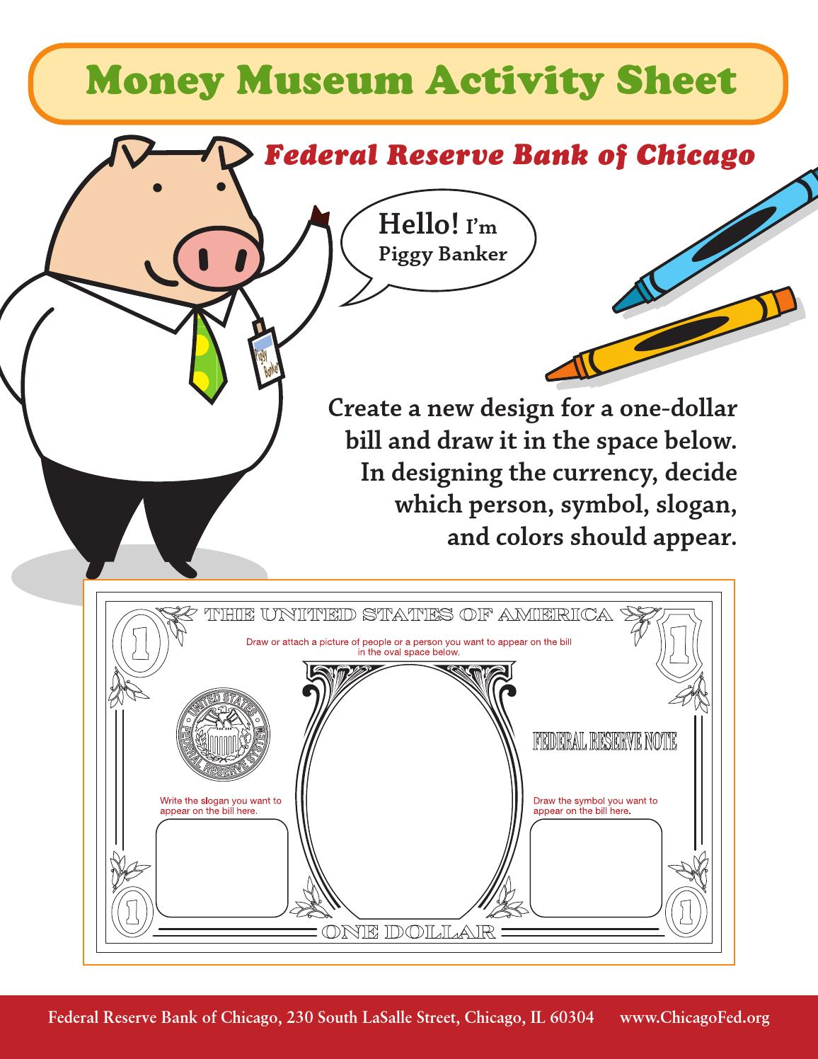 Money Museum Activity Sheet By Federal Reserve Bank Of Chicago Issuu