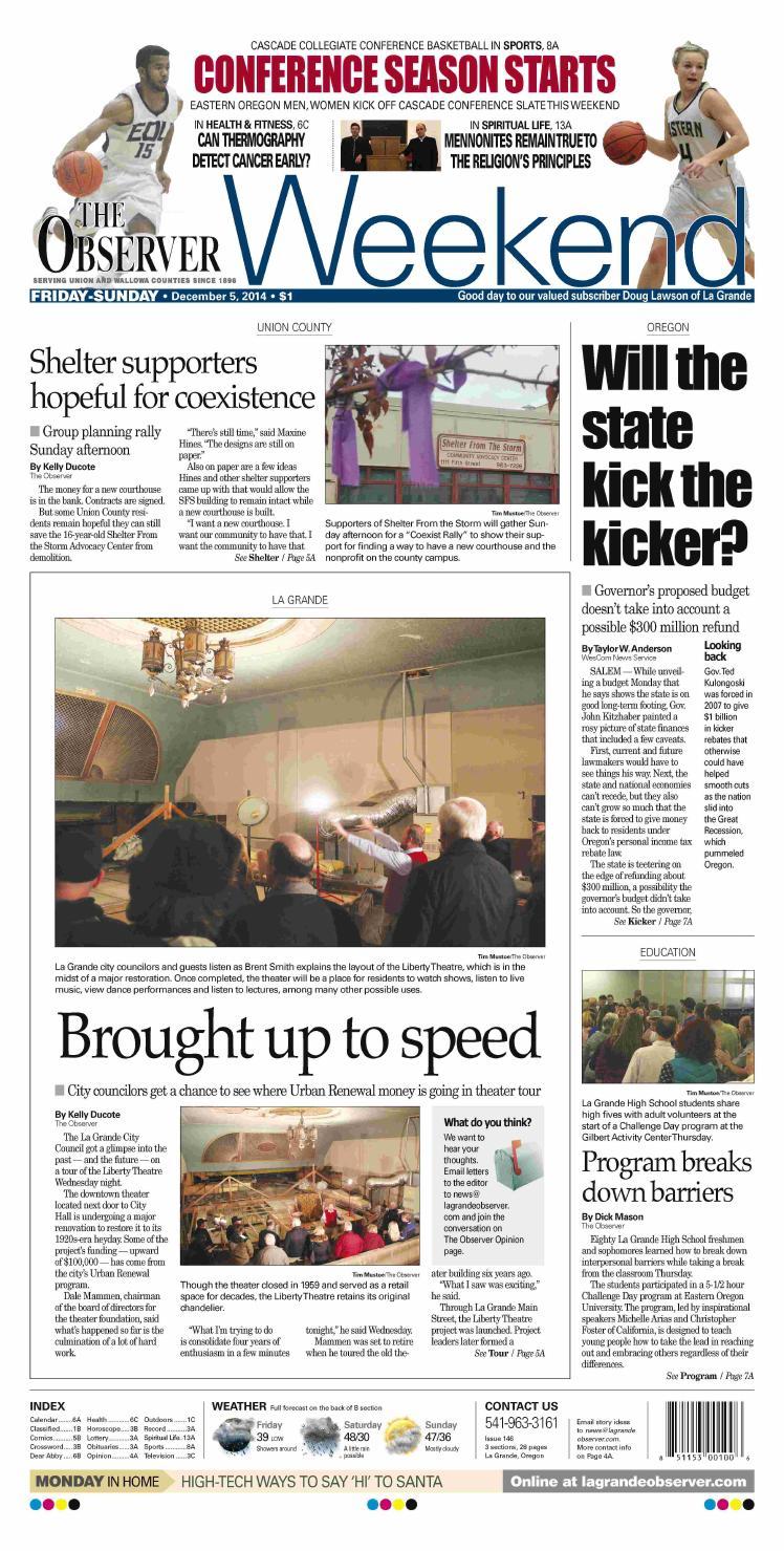 74185505647 La Grande Observer 12-05-14 by NorthEast Oregon News - issuu