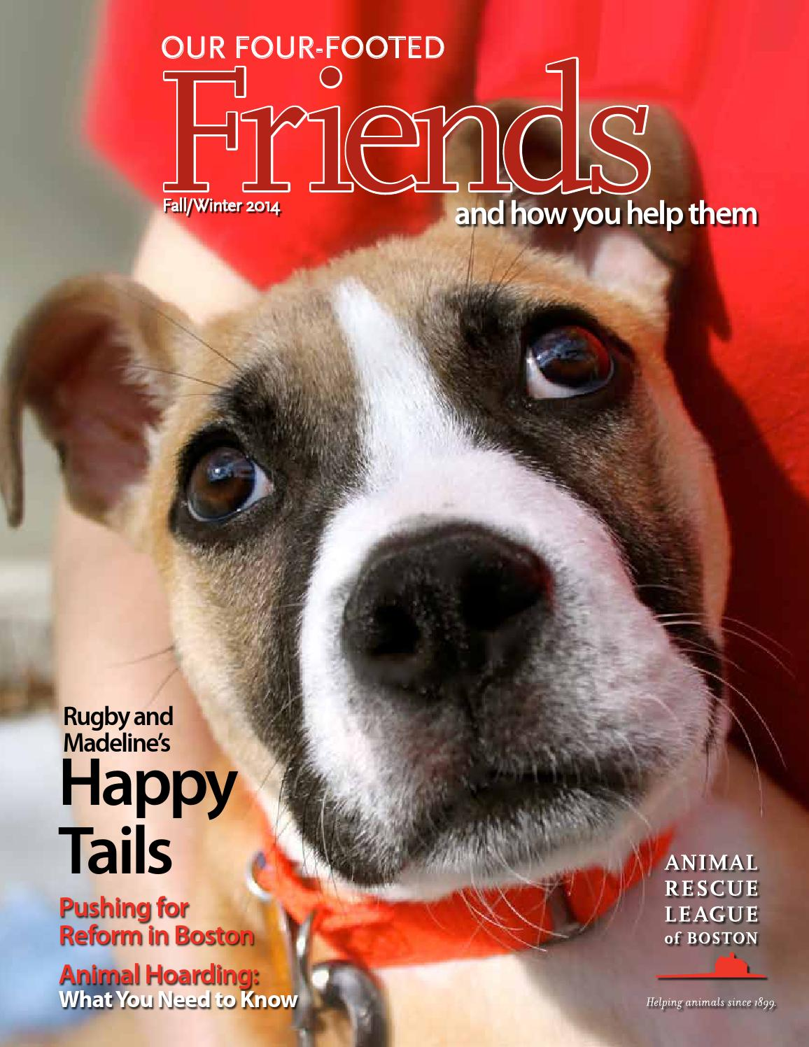 ARL Our Four-Footed Friends Fall/Winter 2014 by Animal Rescue League of  Boston - issuu