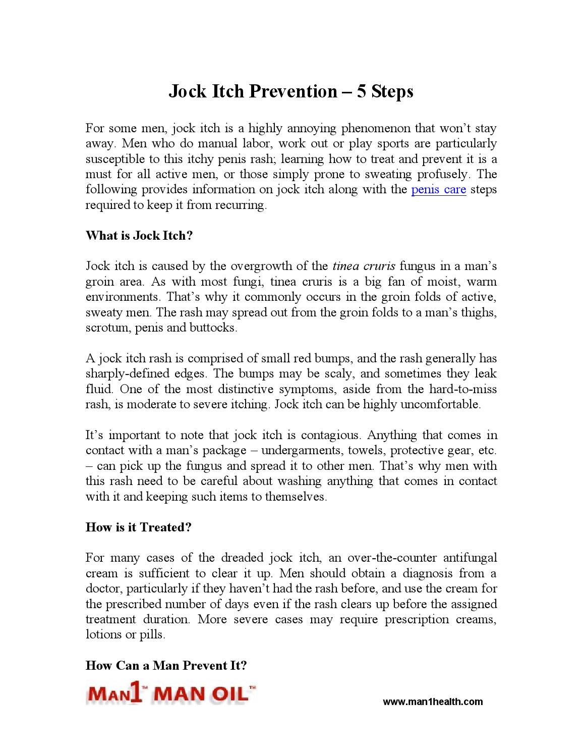 Jock itch prevention – 5 steps by man1health - issuu