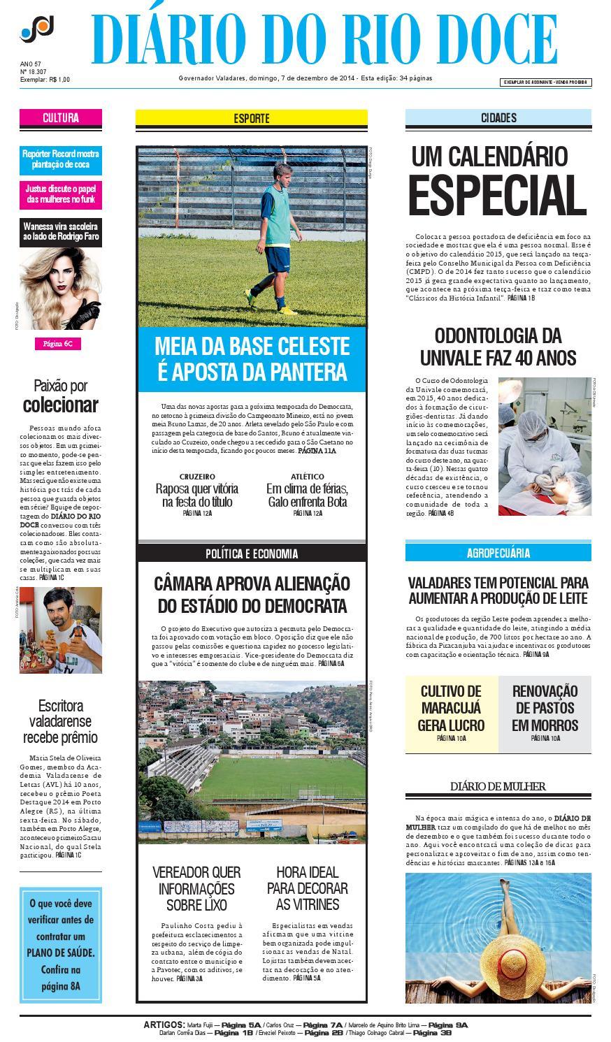 78b0d0b257 Diário do Rio Doce - Edição de 07 12 2014 by Diário do Rio Doce - issuu