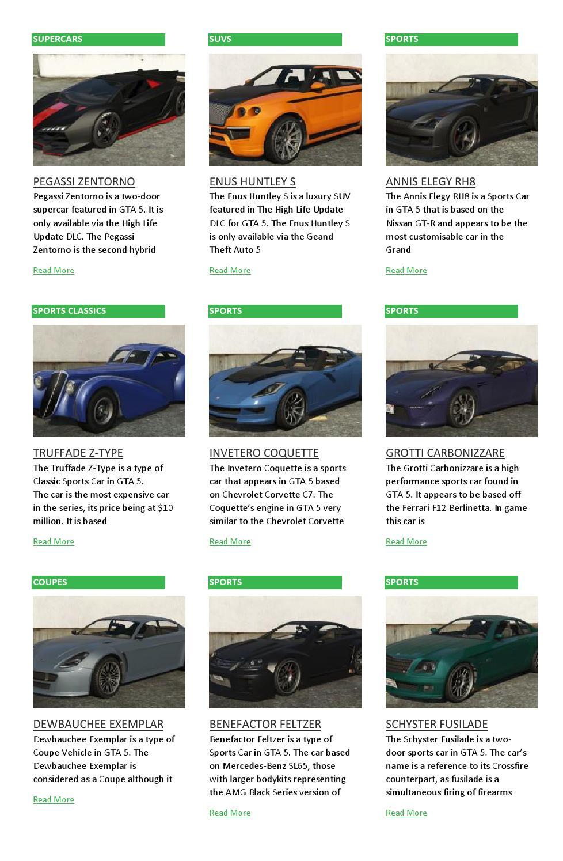 GTA 5 Vehicles List by GTA 5 Cars - issuu
