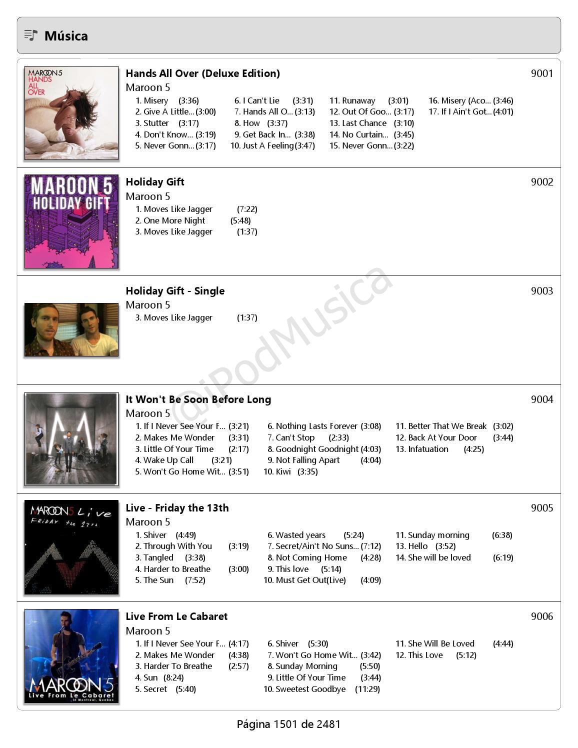 Catálogo Musical 12 2014 45 Ordenado Por Artista De La M