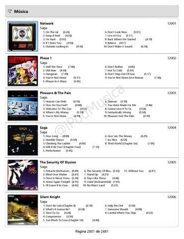 ee895ddd4c7 Catálogo Musical 12-2014 5 5 Ordenado por Artista de la